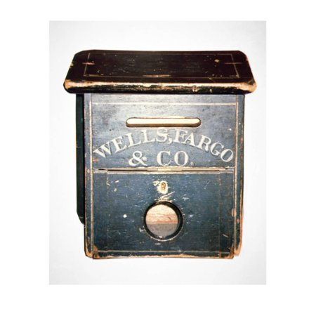 Original Wells Fargo and Co. Letter Box of the Old West, C.1880 (Wood) Print Wall Art By American](Halloween Letter Fargo)