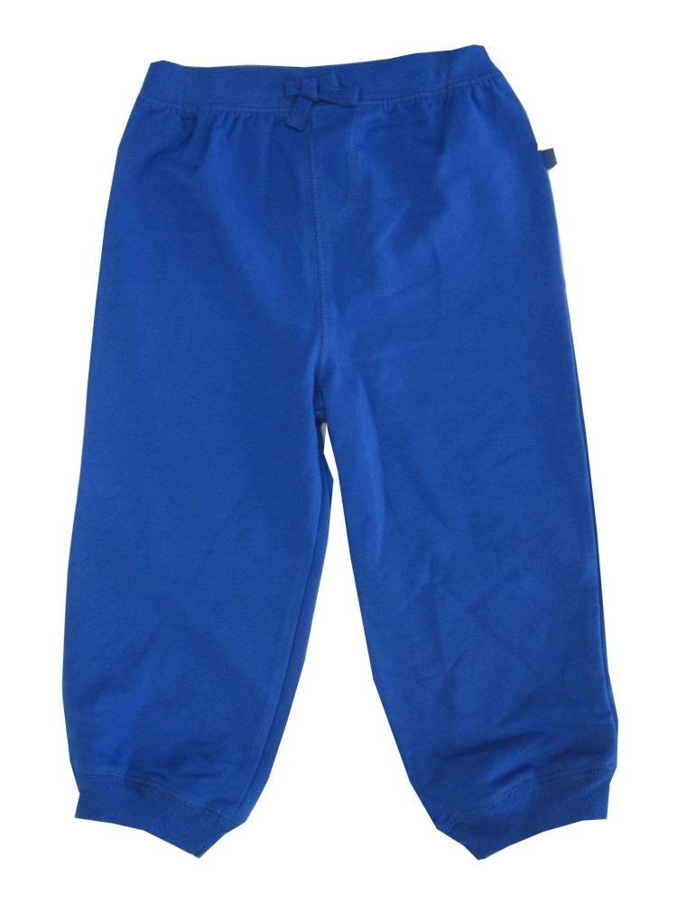 Little Me Little Boys Royal Blue Solid Color Adjustable Waist Sweat Pants 2-4T