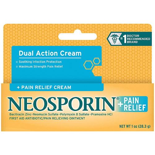 Neosporin + Pain Relief Dual Action Cream + Pain Relief Cream, 1 oz
