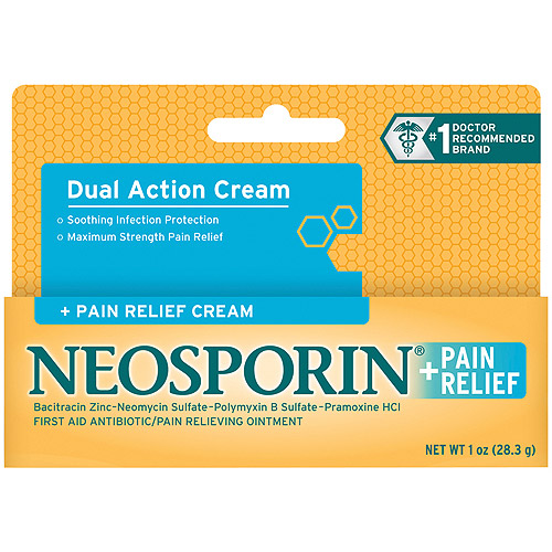 Neosporin + Pain Relief Dual Action Cream + Pain Relief Cream, 1 oz