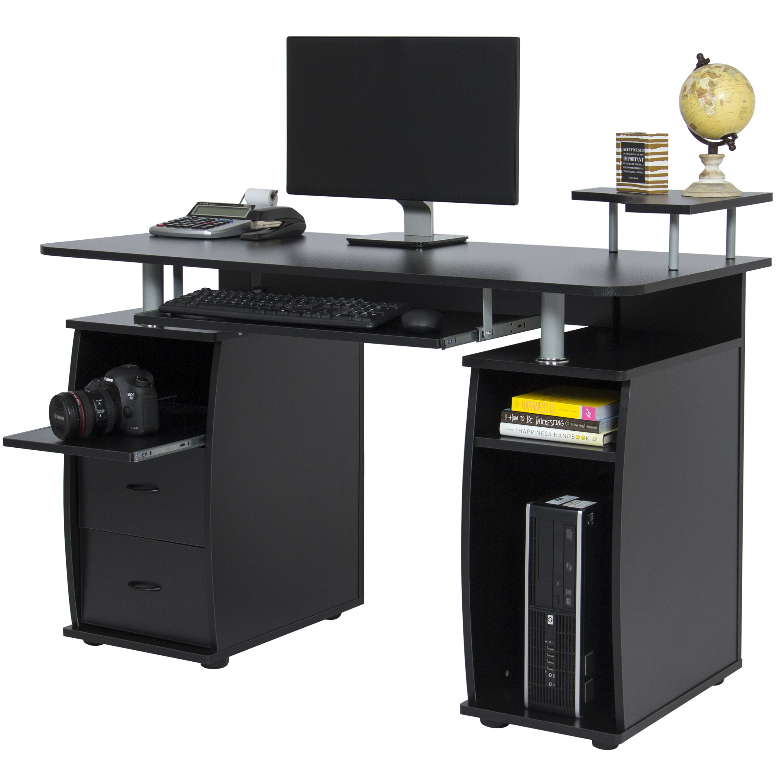 Best Choice Products Work Station Computer Desk Home Office W/ Monitor, Tower, Printer Shelf