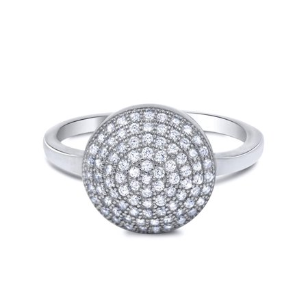 - Micro Pave Cz 925 Sterling Silver Big Anniversary Cocktail Ring Luxurious!