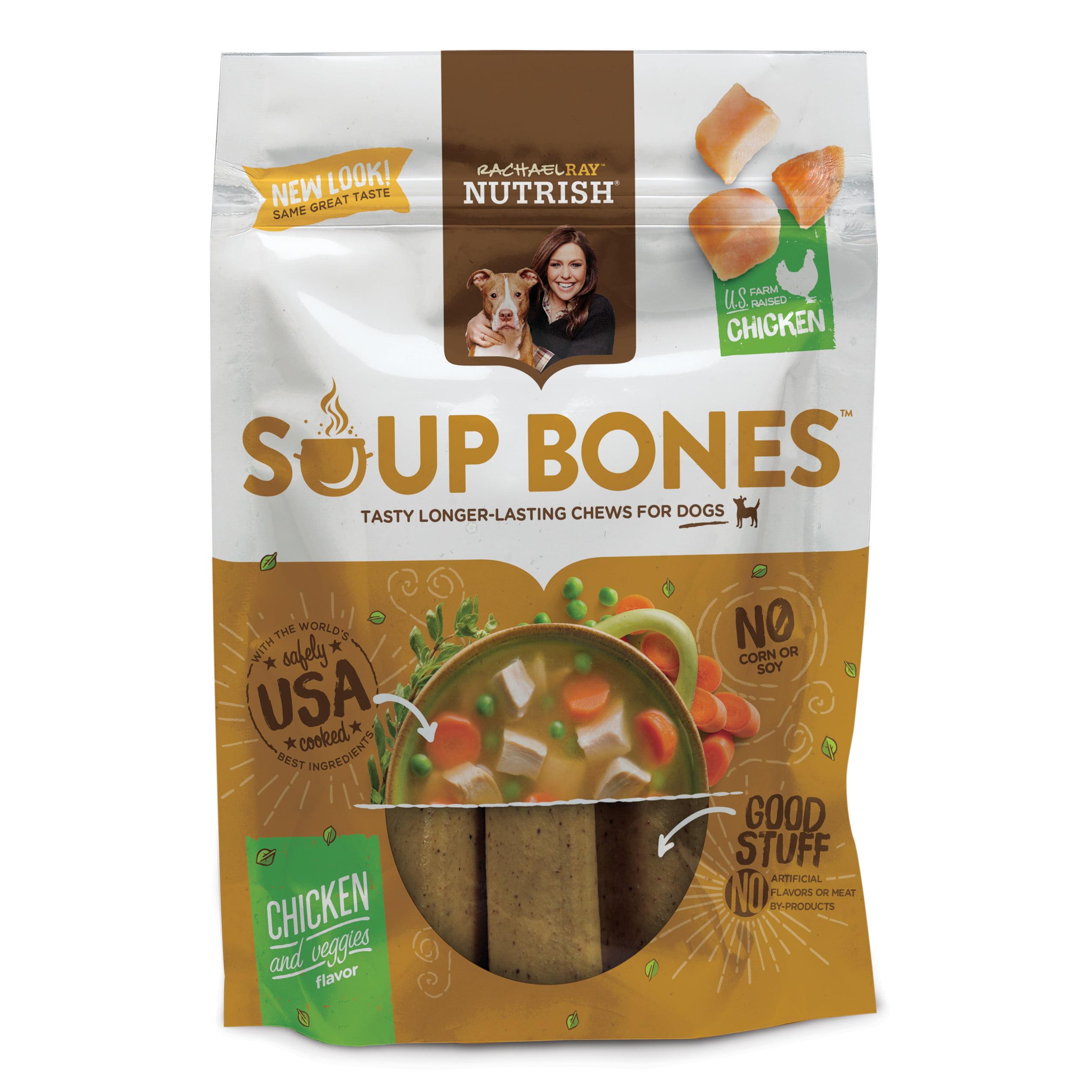 Rachael Ray Nutrish Soup Bones Dog Treats, Chicken & Veggies Flavor, 12.6oz