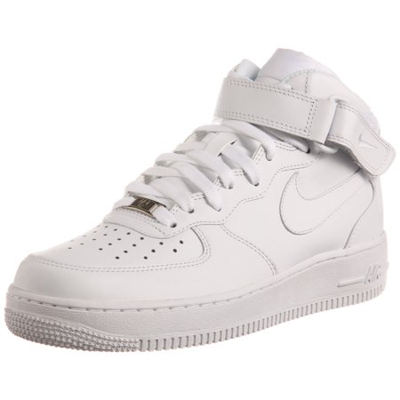 (Nike 315123-111: Mens Air Force 1 Mid White/White Basketball Sneaker (9.5 D(M) US))