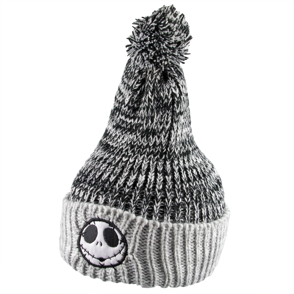 Nightmare Before Christmas - Jack Head On Side Pom Pom Knit Hat