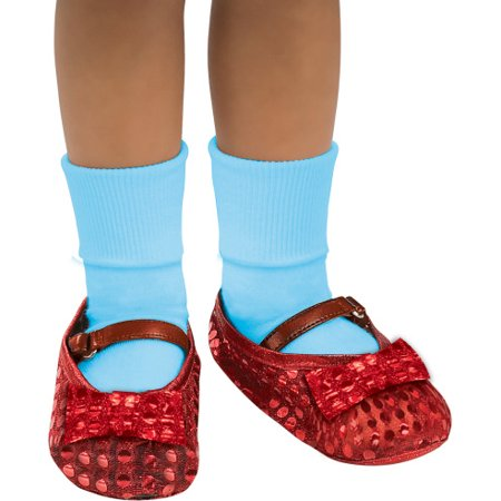 The Wizard Of Oz Dorothy Costume Sequin Shoe Covers Toddler One Size - image 1 of 1