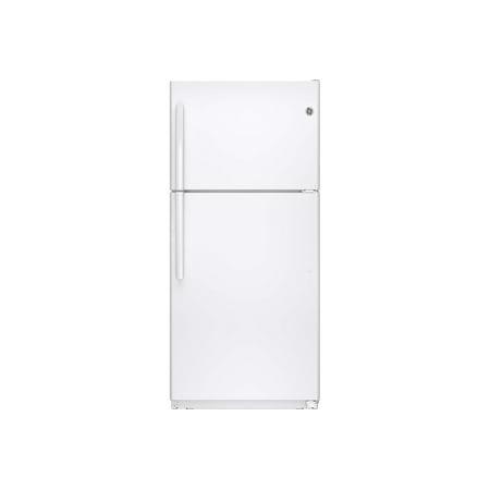 GE GTE18ETHWW - Refrigerator/freezer - top-freezer - freestanding - width: 29.5 in - depth: 34.3 in - height: 66.5 in - 18.1 cu. ft - white