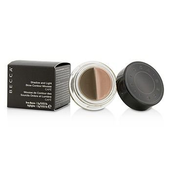 Shadow And Light Brow Contour Mousse (1x Brow Mousse  1x Highlighter) - Cafe