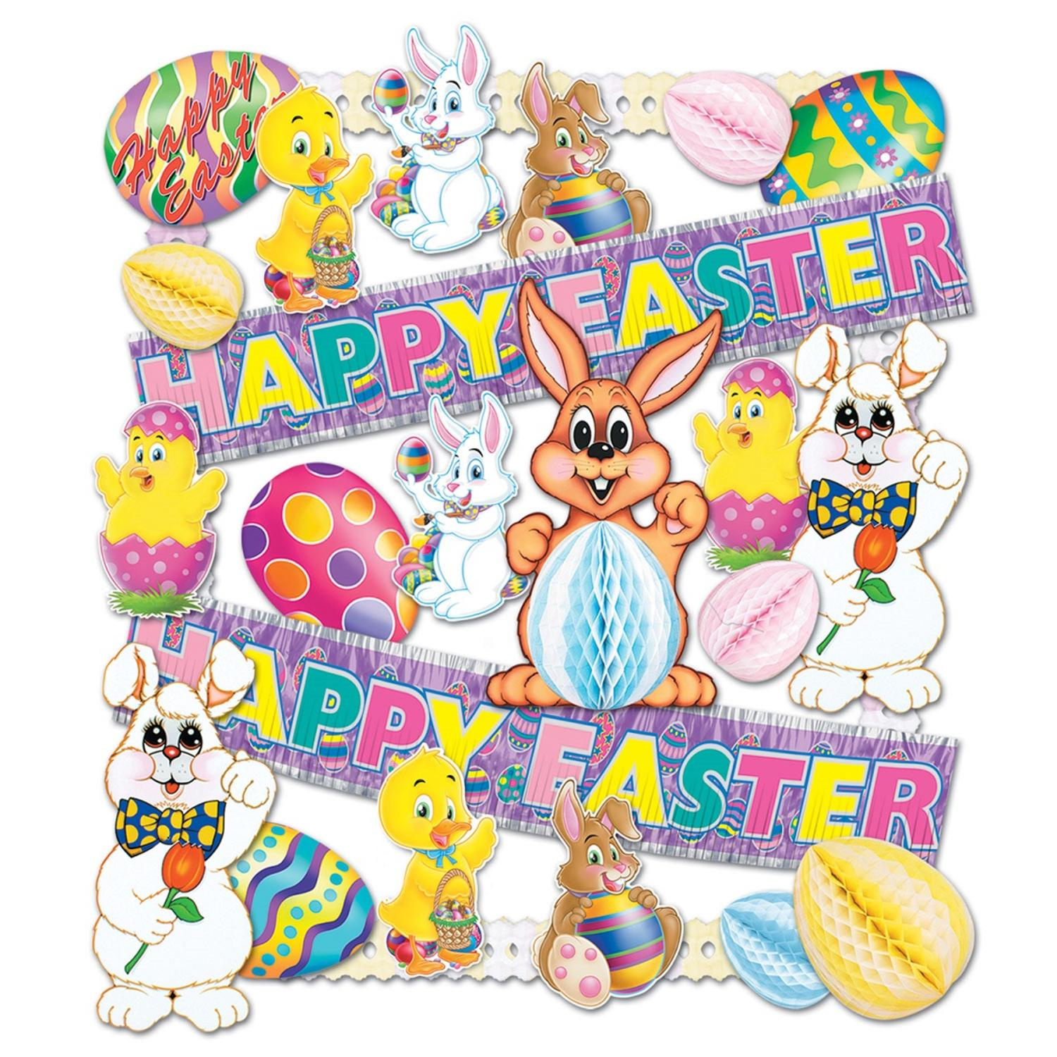 Easter Decorating Kit with Cutouts, Tissue and Banners 26 Count