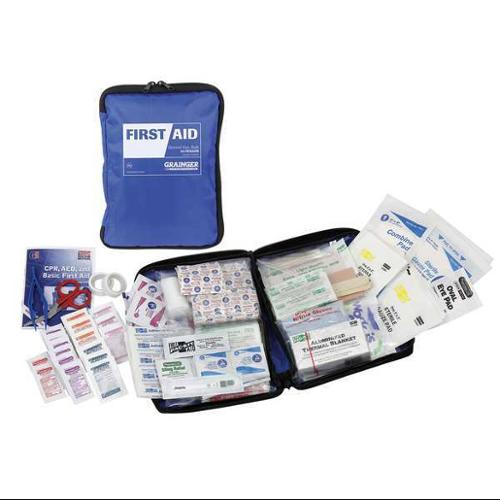 54519 First Aid Kit, Bulk, Blue, 50 People
