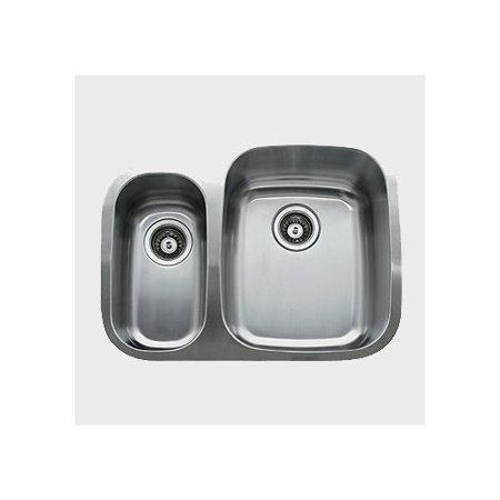 Ukinox 26.25'' x 20.5'' Double Bowl Undermount Kitchen Sink