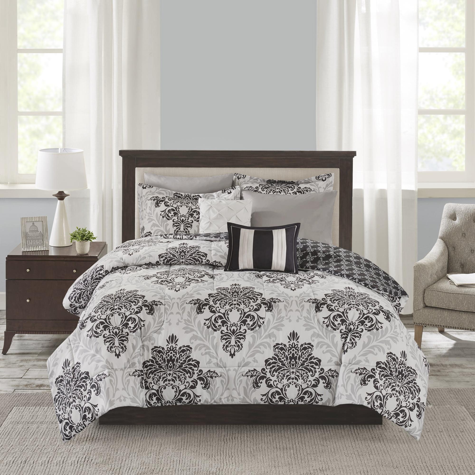 Mainstays Queen Comforter Amp Coverlet Set 8 Piece