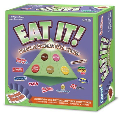 Eat It, Snacks and Sweets Trivia Game is an exciting board game about the fun foods that everyone loves to eat... by