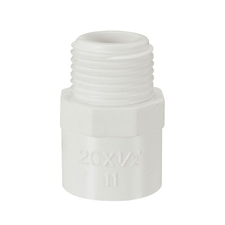 20mm Slip x 1/2 PT Male Thread PVC Pipe Fitting Adapter Connector 10 Pcs - image 4 of 4