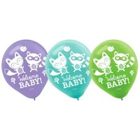 Baby Shower 'Woodland Welcome' Latex Balloons (15ct)