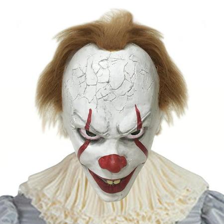 Halloween Clowns Masks (Halloween Creepy Clown Cosplay Costume The Clown)