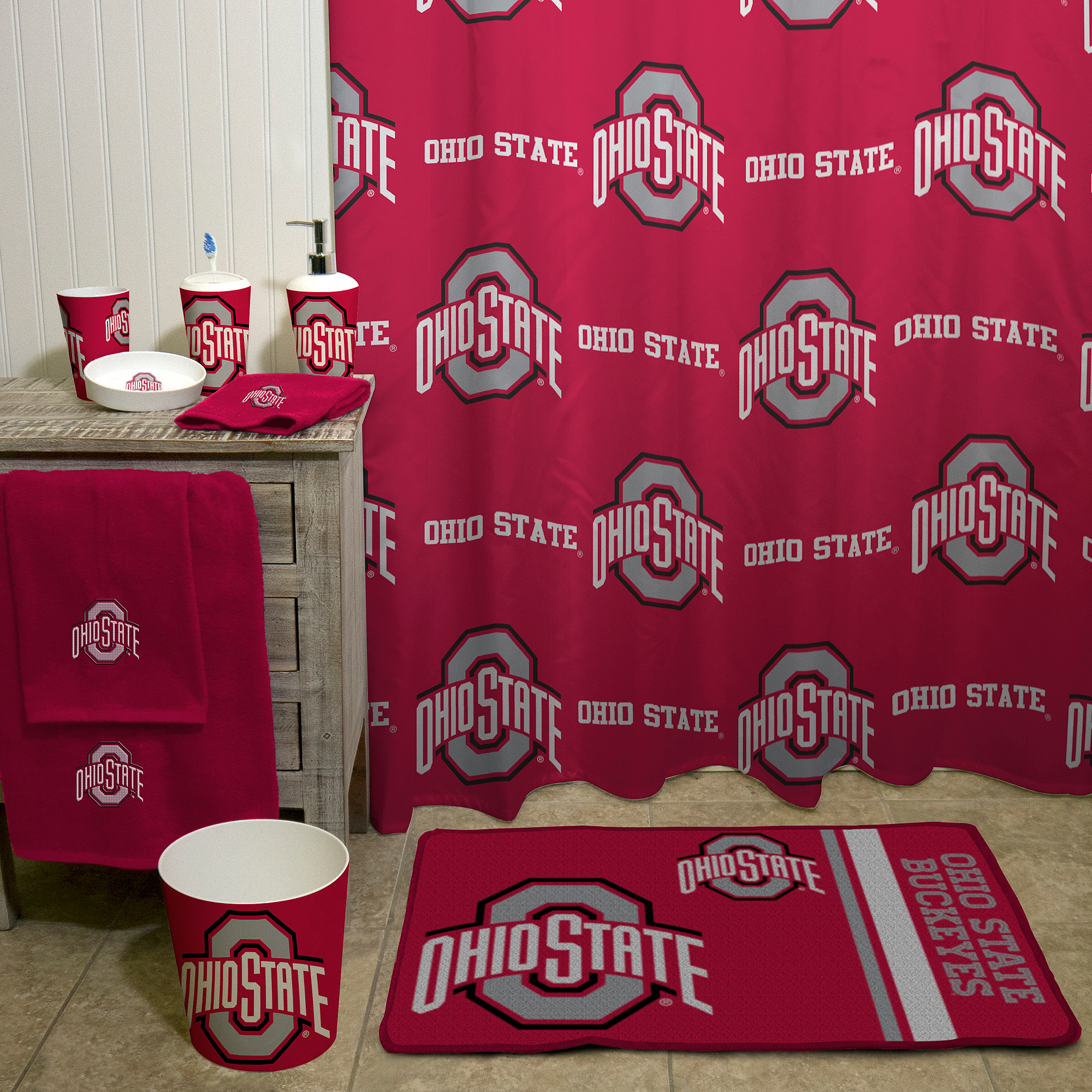 NCAA Ohio State University Shower Curtain 1 Each