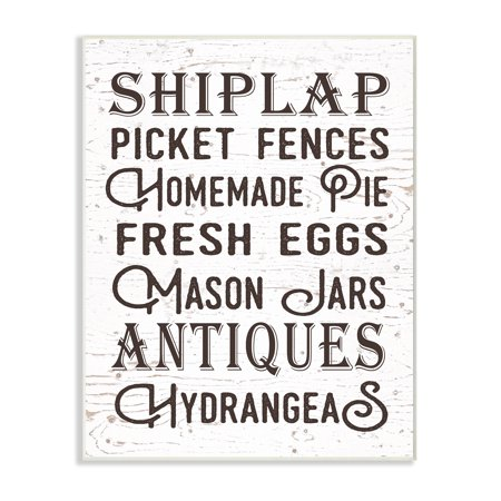 The Stupell Home Decor Collection The Best Rustic Things Farmhouse Typography Wall Plaque (Best Things To Farm In Wow)