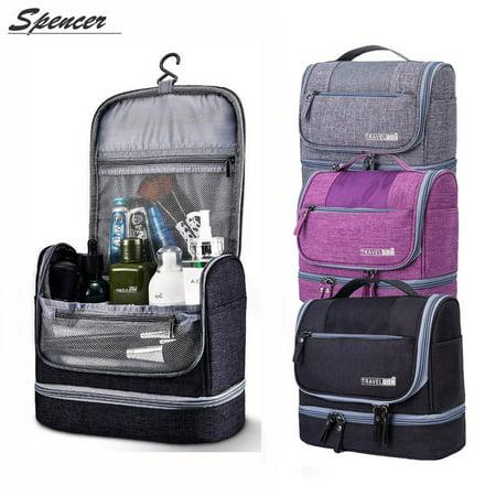 Spencer Waterproof Hanging Travel Cosmetics Toiletry Bag Mildew Proof Makeup Organizer Wash Dop Kit For Women And Men Vacation Outdoor