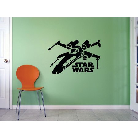 - Star Wars Airplane Logo Mural Movie Series Characters Robot Design Art Decor Silhouette Custom Wall Decal Vinyl Peel & Stick Sticker 12 Inches X 12 Inches
