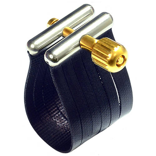 Rovner SS-3R Star Series Ligature for Hard Rubber Baritone Sax, Gold Fittings