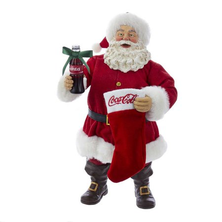 Coca Cola Stocking (Kurt S. Adler 10 in. Santa with Coke Bottle and Stocking)