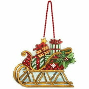 "Susan Winget Sleigh Ornament Counted Cross-Stitch Kit, 4-1/4"" x 3-1/4"""
