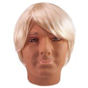 Star Power Adult Mens Short Straight Costume Wig, Blonde, One Size