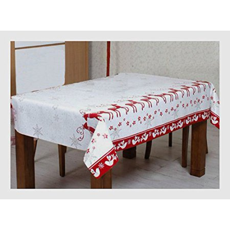 Thickers Vinyl (Christmas Vinyl Tablecloth Flannel Backed, Thicker, Last Longer, Stain Resista.. )