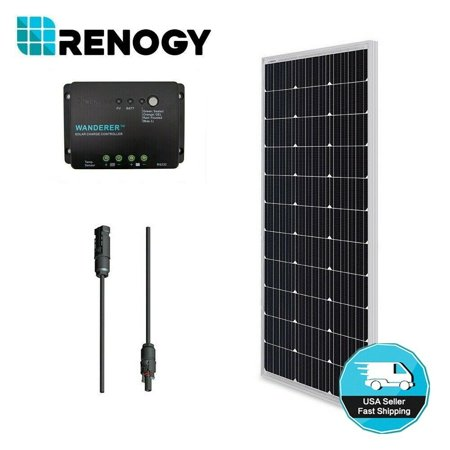 100 100w Tube Amp Head (Renogy 100W 12V Solar Panel Monocrystalline Bundle Off Grid Power Kit for RV/Boat/Cabin/Battery Applications)