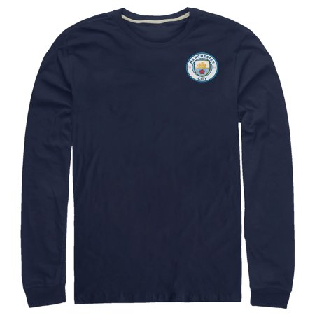 - Manchester City Football Club Men's Team Logo Badge Long Sleeve T-Shirt
