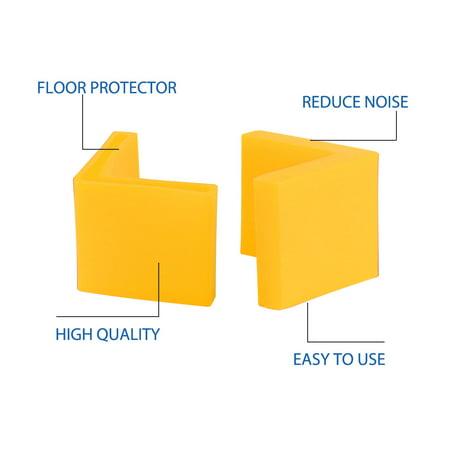 40mm x 40mm Angle Iron Foot Pad L Shaped Plastic Leg Cap Protector Yellow 4pcs - image 5 de 7