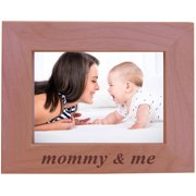 CustomGiftsNow Mommy & Me - Wood Picture Frame - Fits 5x7 Inch Picture (Horizontal)