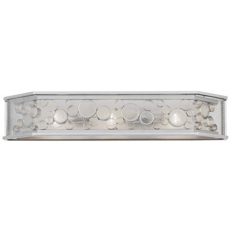 Varaluz - Fascination - 3 Light Hex Bath Fixture - Metallic Silver Finish with Recycled Clear Glass ()