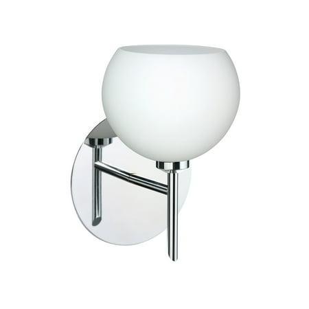 Besa Lighting 1SW-565807 Palla 1-Light Halogen Bathroom Sconce with Opal Matte Glass Shade