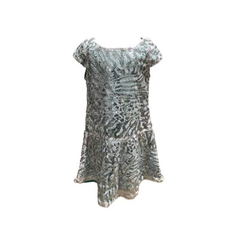 Retro Glam White & Sparkly Silver Sequin Special Occasion Flapper Party Dress (4)