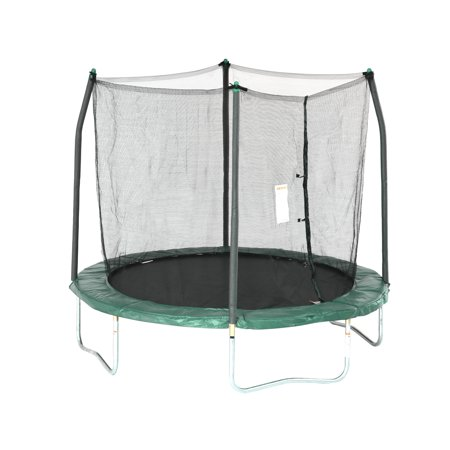 - Skywalker Trampolines 8-Foot Trampoline, with Safety Enclosure, Green