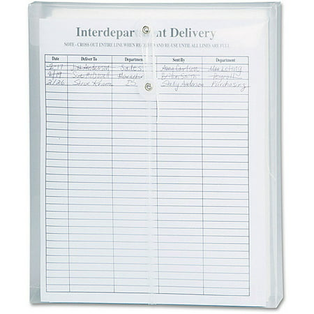 Smead ultracolor poly string and button envelope clear 5 for Interoffice mail envelope template