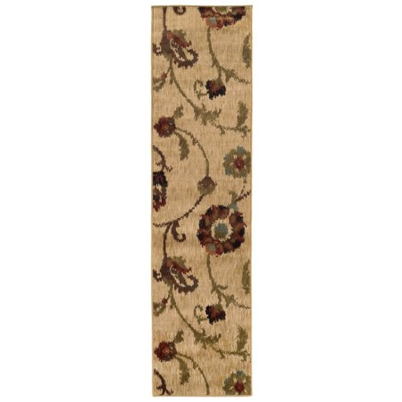 Moretti Wetlands Area Rugs - 4887B Transitional Casual Gold Scrolls Vines Flowers Petals (Gold Open Vine)