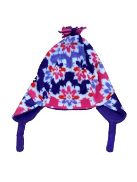 c825bf3a419 Product Image CP Infant Girls Pink   Purple Snowflake Fleece Peruvian  Trapper Hat 6-12m. Childrens Place