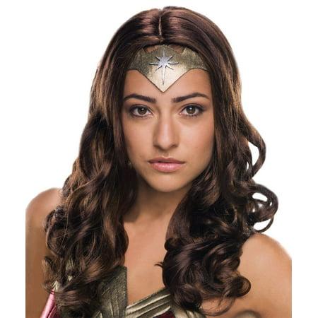 Disney Wonder Halloween Cruise (Brown Wonder Woman Adult Wig Halloween Costume Accessory - One)