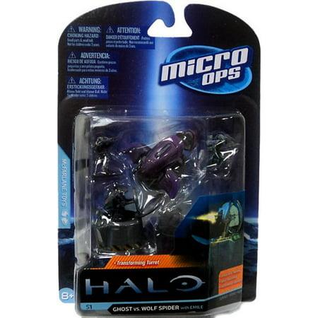 McFarlane Halo Micro Ops Series 1 Ghost vs. Wolf Spider Turret Mini (Halo 2 Mini Figures)