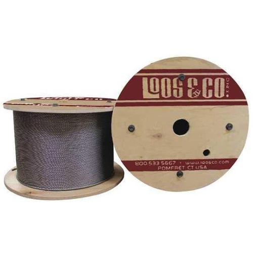 LOOS SZ12517L Cable,100 ft. L,1/8 in.,328 lb. G2416121
