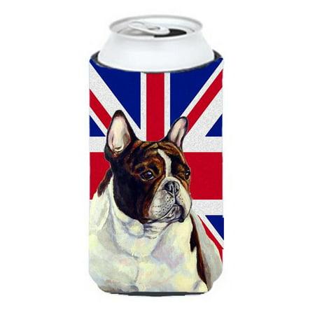 French Bulldog With English Union Jack British Flag Tall Boy bottle sleeve Hugger - 22 To 24 Oz. - image 1 de 1