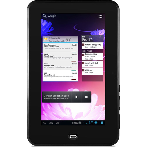 """Ematic eGlide 4 XL - Tablet - Android 4.0 - 4 GB - 10"""" TFT - microSD slot - black"""