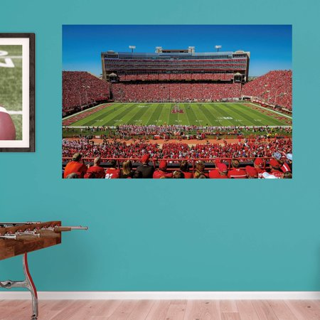 Fathead ncaa nebraska cornhuskers stadium wall mural for Beaver stadium wall mural
