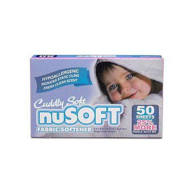 nuSOFT Hypoallergenic Fabric Softener Dryer Sheets 2pk