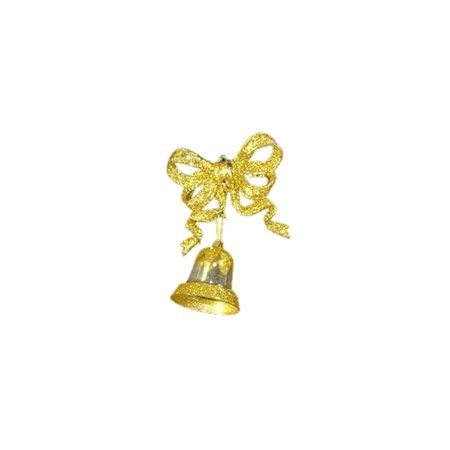 Northlight 2ct Glitter Bow with Bell Christmas Ornament Set 5