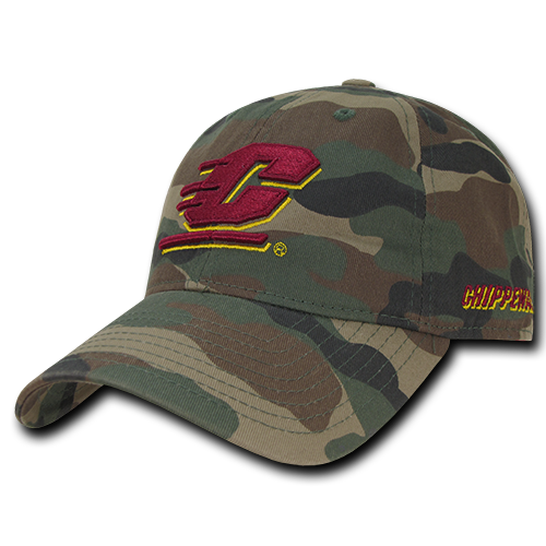 NCAA CMU Central Michigan University Chippewas Relaxed Cotton Baseball Caps Hat