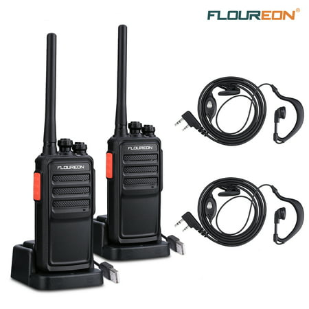 Floureon A5 Rechargeable 16 Channel Walkie Talkie 400 - 480MHz Two Way Radio Handheld Transceiver(2